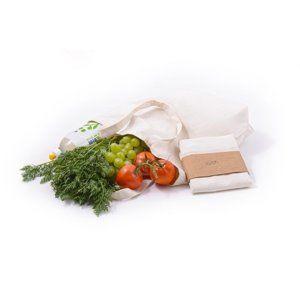 Casa Organica Plátěná nákupní taška z nebělené biobavlny