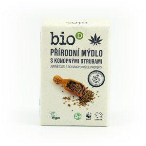 Bio-D Mýdlo s konopnými otrubami (95 g) ručně vyráběné, v bio kvalitě
