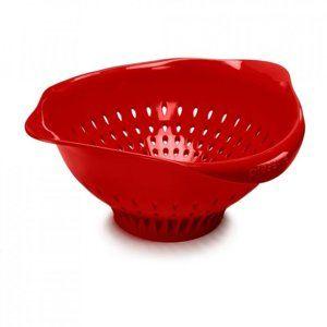 Preserve Kuchyňský cedník (3,5 l) - červený ze 100% recyklovaného plastu